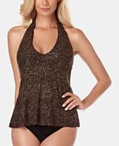 9ad12416a68c6 Magicsuit Printed Tankini Top   Ruched Bikini Bottoms