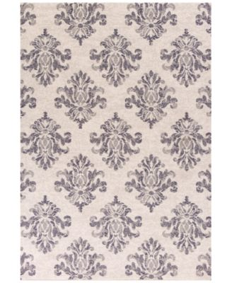 """CLOSEOUT! Reflections Damask 7431 Grey 2'7"""" x 4'11"""" Area Rug"""