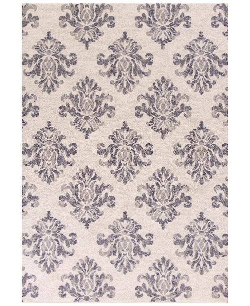 """Kas CLOSEOUT! Reflections Damask 7431 Grey 2'7"""" x 4'11"""" Area Rug"""