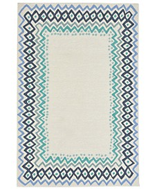 Liore Manne' Capri 1607 Ethnic Border Indoor/Outdoor Area Rug