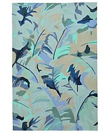Capri 1668 Palm Leaf 2' x 8' Indoor/Outdoor Runner Area Rug