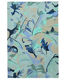 Liore Manne' Capri 1668 Palm Leaf Indoor/Outdoor Area Rug