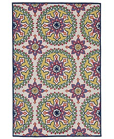 "Capri 1686 Moroccan Medallion 3'6"" x 5'6"" Indoor/Outdoor Area Rug"