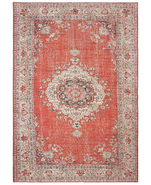 "Oriental Weavers Sofia 85810 Red/Gray 4'3"" x 6'3"" Area Rug"