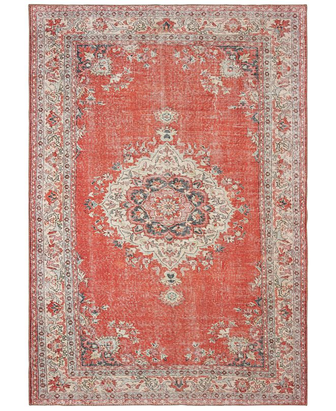 "Oriental Weavers Sofia 85810 Red/Gray 5'3"" x 7'6"" Area Rug"