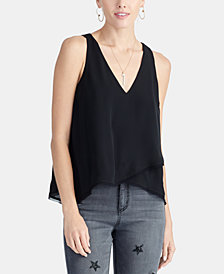 RACHEL Rachel Roy Nova V-Neck Overlay Top, Created For Macy's