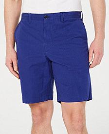 Calvin Klein Men's Seersucker Flat-Front Shorts