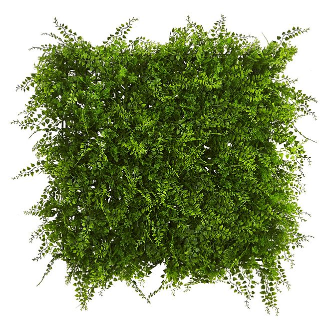 """Nearly Natural 20"""" x 20"""" Lush Mediterranean Artificial Fern Wall Panel UV Resistant"""