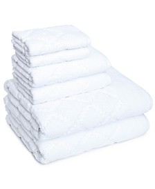 Hart Diamond 6 Piece Textured Towel Set