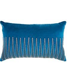 Inspire Me! Home Decor Beaded Triangle Royal Throw Pillow