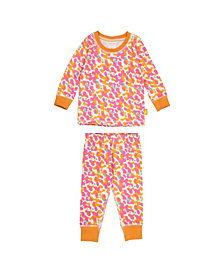 Masala Baby Girls Organic Cotton Kids Long sleeve Pajamas Spotted