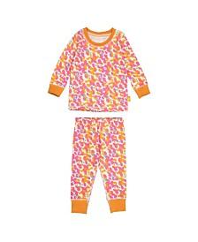 Masala Baby Girls Organic Cotton Kids Long sleeve Pajamas Spotted