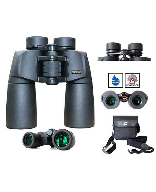 Cassini 12 Power Waterproof and Fogproof Binocular with 50mm Bak4 Lens and Case