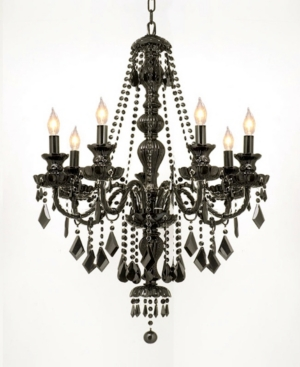 Royal 7-Light Jet Black Crystal Chandelier