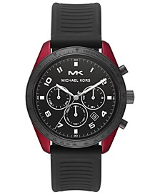Men's Chronograph Keaton Black Silicone Strap Watch 43mm