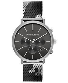 Michael Kors Men's Blake Camo Stainless Steel Mesh Bracelet Watch 42mm
