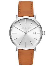 Men's Blake Luggage Leather Strap Watch 42mm