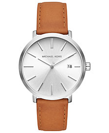 Michael Kors Men's Blake Luggage Leather Strap Watch 42mm