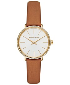 Women's Mini Pyper Luggage Leather Strap Watch 32mm