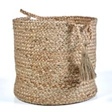 LR Home Natural Jute - Montego Solid Storage Basket