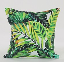 LR Home Bahama Tropical Palm Leaves Throw Pillow
