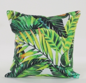 Image of Lr Home Bahama Tropical Palm Leaves Throw Pillow