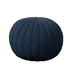 Midnight Knit Pouf