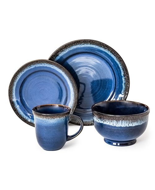 Over and Back Sheen 16 Piece Dinnerware Set