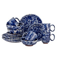 Over and Back Blue Moon 16Pc Dinnerware Set