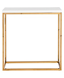 Teresa Console Table with Brushed Stainless Steel Frame