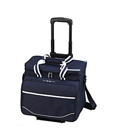 Equipped Picnic Cooler with Service for 4 on Wheels