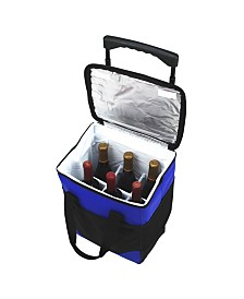 Picnic at Ascot Insulated 6 Bottle Wine Carrier on Wheels