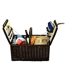 Picnic at Ascot Surrey Willow Picnic Basket with Service for 2