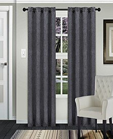 "Waverly Textured Blackout Curtain, Set of 2, 58"" x 108"""