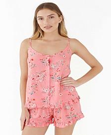 Ruffled Shortie Pajama Set