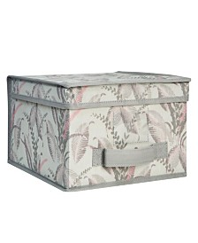 Laura Ashley Large Collapsible Storage Box in Palm Leaf