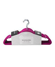 Simplify 25 Pack Slim Velvet Suit Hangers in Fuchsia