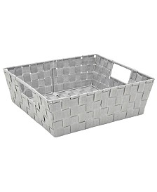 Simplify Large Woven Storage Bin in Gray