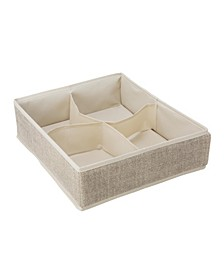 4 Compartment Drawer Organizer in Faux Jute