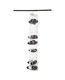 Simplify Crystal Clear 18 Pocket Hanging Shoe Caddy