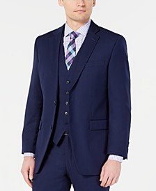 Men's Portfolio Slim-Fit Stretch Navy Solid Suit Jacket