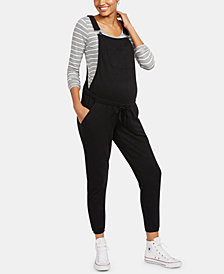 Motherhood Maternity French Terry Overalls