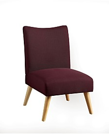 Fabric Upholstered Armless Accent Chair with Splayed Legs