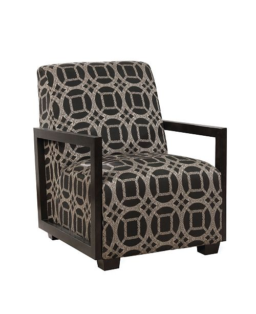 Benzara Patterned Accent Chair with Fabric Upholstery