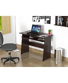 Inval America Writing Desk with Storage Area in Smoke Oak