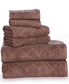 Casa Platino Luxurious Fine Cotton Jacquard Solid 6 Piece Towel Set