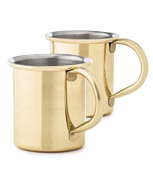 Martha Stewart Collection Moscow Mule Mugs, Set of 2, Created for Macy's