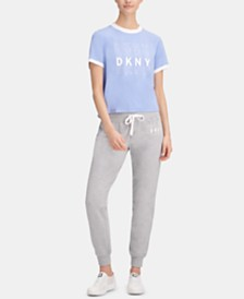 DKNY Sport Fleece Logo Joggers, Created for Macy's