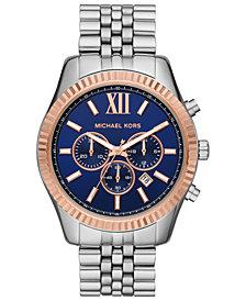 Michael Kors Men's Chronograph Lexington Stainless Steel Bracelet Watch 42mm