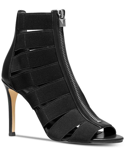 recognized brands classic fit discount sale Michael Kors Margaret Peep-Toe Shooties & Reviews - Boots ...